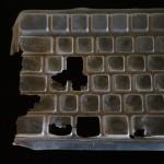 左手の位置が見事に消耗する #キーボード カバー 。#交換 #⌘s ⌘a #⌘w #option #keyboard
