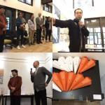 「デザイナーの1年展」本日最終日です。ぜひ。 #jagda #青森 #黒石 写真は初日の講評会&公演、最優秀作品 面白かったなぁ デザイナーの #運動会 です