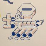 続いて、サブグラフィックエレメント『場』 #八戸工場大学 #サブグラフィックエレメント #配管 #パイプ #八戸 #jitozu