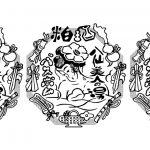 酒粕バスボム 八仙美人の湯 パッケージデザイン