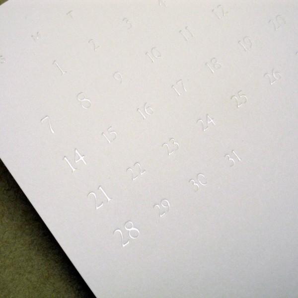 White Calendar 2001/ホワイトカレンダー