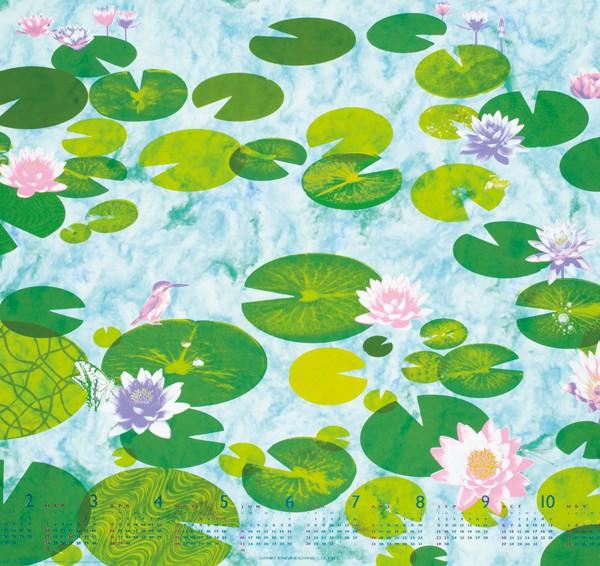 ハーモニーカレンダー2013 /Le jardin de Monet ∞ 北斎